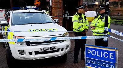 Полиция на месте инцидента в Солсбери