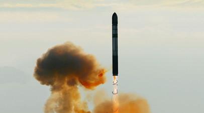 Запуск ракеты РС-20 «Воевода»