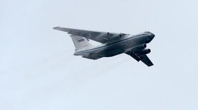 Самолёт Ил-76МД в полёте