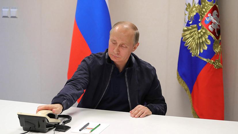 Путин поблагодарил Тулеева замноголетнюю работу напосту губернатора