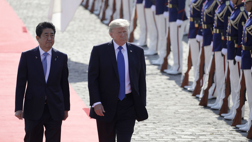 Белый дом назвал дату встречи Трампа и Абэ в США