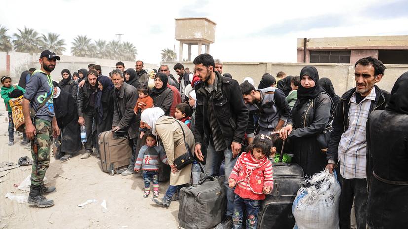 Более 1,1 тысячи боевиков и членов их семей выведены из Восточной Гуты за сутки