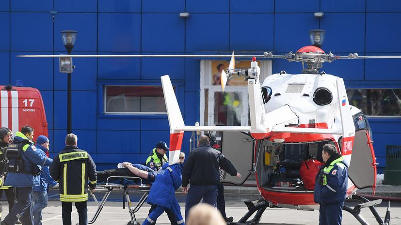 При тушении ТЦ «Персей для детей» на востоке Москвы пострадали шесть пожарных