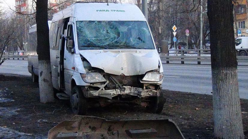 На юго-востоке Москвы произошло ДТП с участием маршрутки