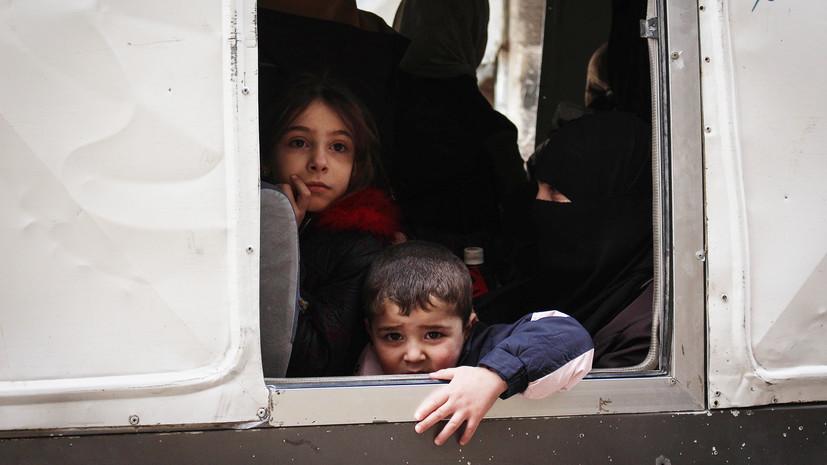 Сирийскую Думу за сутки покинули более 1,2 тысячи боевиков и членов их семей