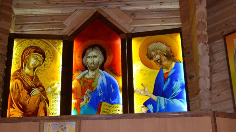 В Киеве подожгли храм Иерусалимской иконы Божией Матери