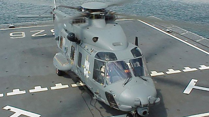 При крушении вертолёта ВМС Италии погиб один человек