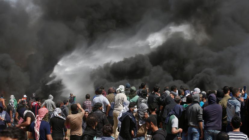Более 900 палестинцев пострадали в ходе столкновений с израильскими военными в секторе Газа