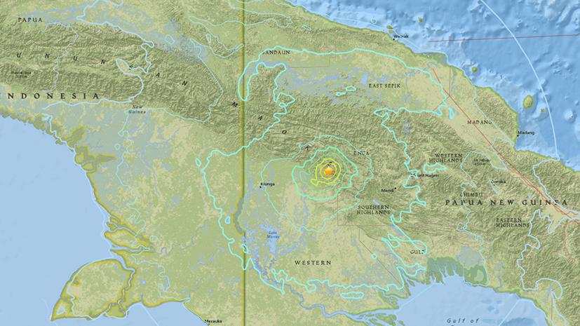 У берегов Папуа — Новой Гвинеи произошло землетрясение магнитудой 6,3
