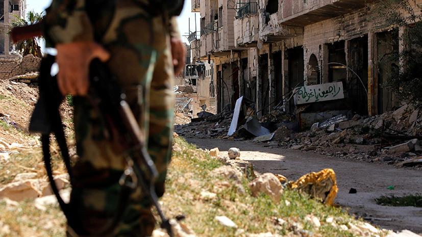 В Минобороны сообщили о миномётном обстреле Дамаска со стороны боевиков