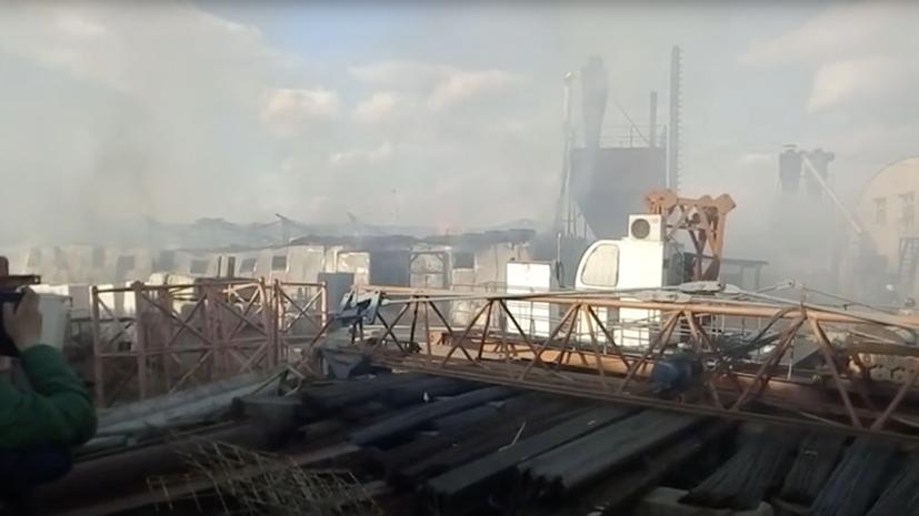 На рынке в Чите произошёл крупный пожар