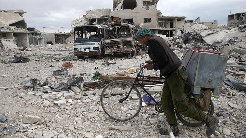 Более 33 тысяч человек покинули сирийскую Думу с 5 марта
