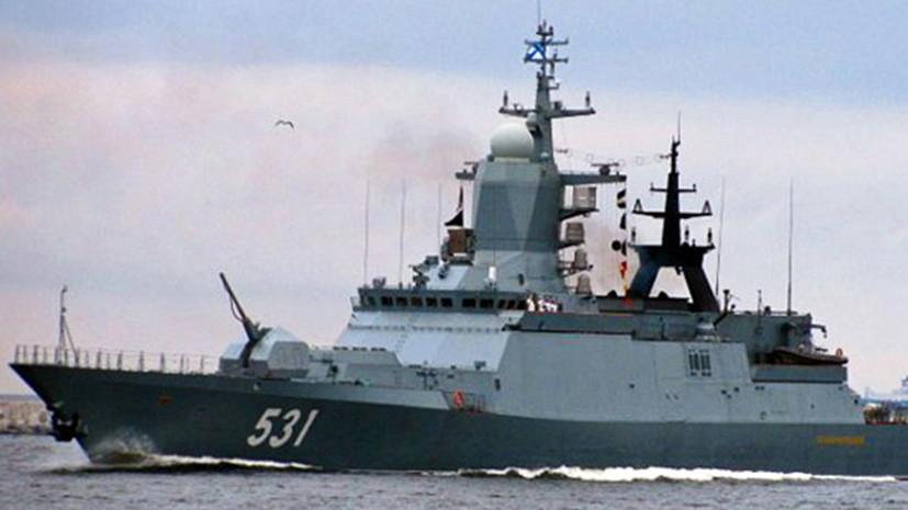 Российский корветСообразительный выполнил стрельбы в Балтийском море