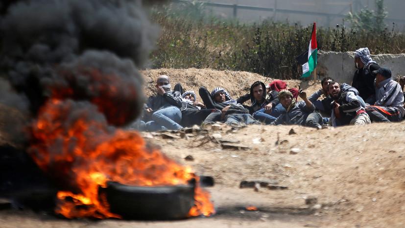 Израиль запретил ввоз в Газу шин, используемых демонстрантами в ходе протестов