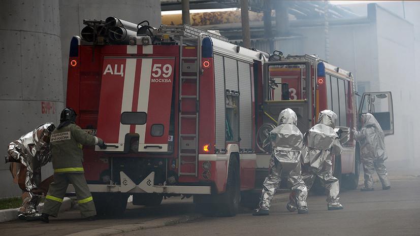 В квартире жилого дома на юге Москвы произошёл пожар
