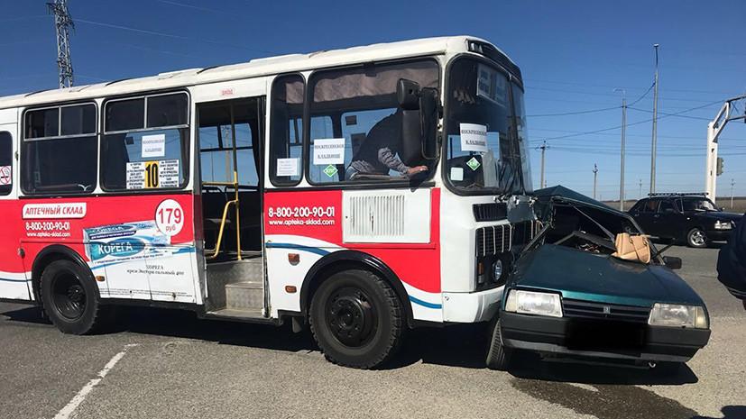 На Ставрополье в ДТП с автобусом один человек погиб и один пострадал