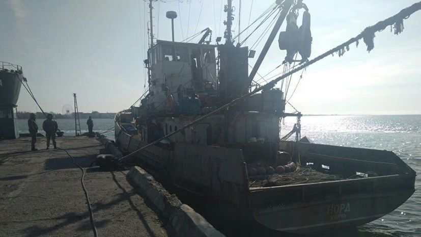 Экипаж судна «Норд» второй раз не смог пересечь украинскую границу