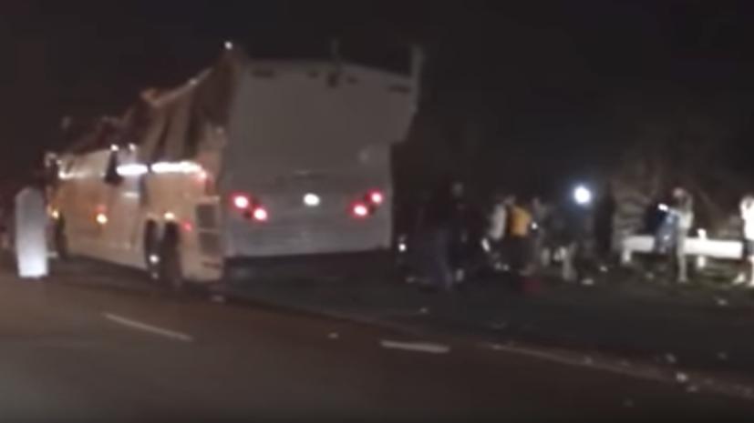 В США более 40 человек пострадали в результате ДТП со школьным автобусом