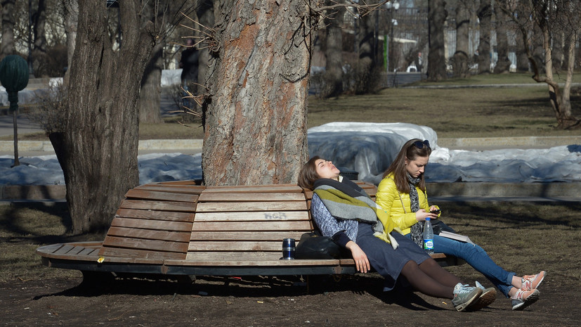 Температура воздуха в Москве достигла максимума с начала года