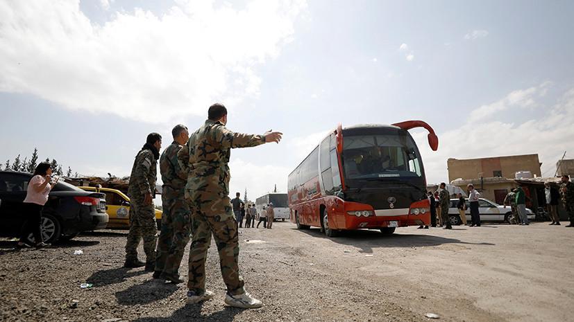 Более трёх тысяч боевиков и членов их семей вышли из сирийской Думы за сутки