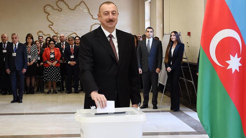 Экзитпол: Алиев лидирует на выборах президента Азербайджана с 82,71% голосов
