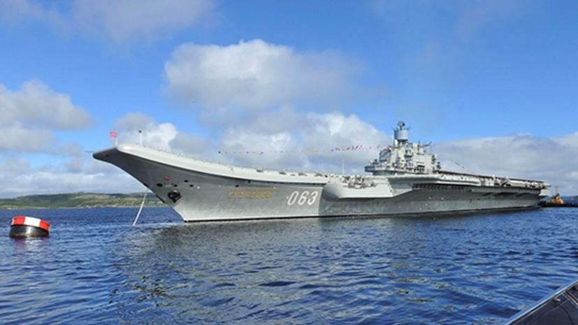 Крейсер «Адмирал Кузнецов» вернётся в состав флота в 2021 году