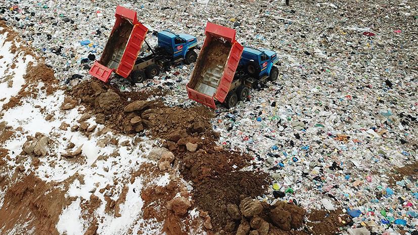 На мусорном полигоне в Волоколамске сделали резервуар, чтобы остановить заражение реки