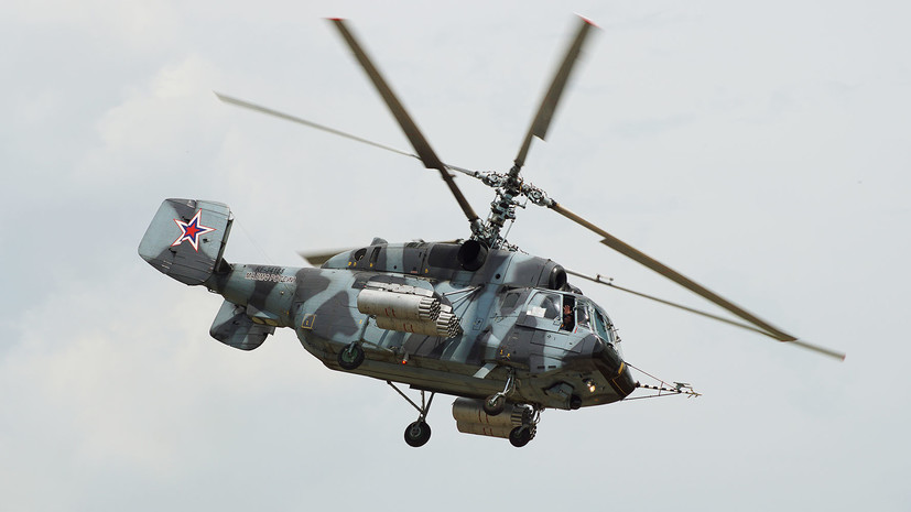 При крушении вертолёта Ка-29 в Балтийском море погибли два лётчика-испытателя