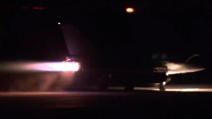Елисейский дворец опубликовал видео взлёта военных самолётов, осуществивших удар по Сирии