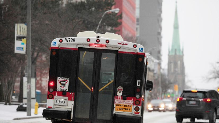 В Торонто из-за ледяных дождей произошло более 550 аварий