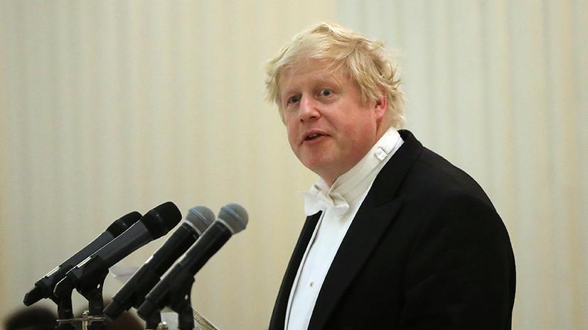 Джонсон назвал главную причину нанесения удара по Сирии
