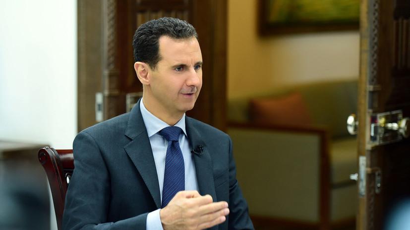 Президент Сирии назвал стоимость восстановления инфраструктуры страны