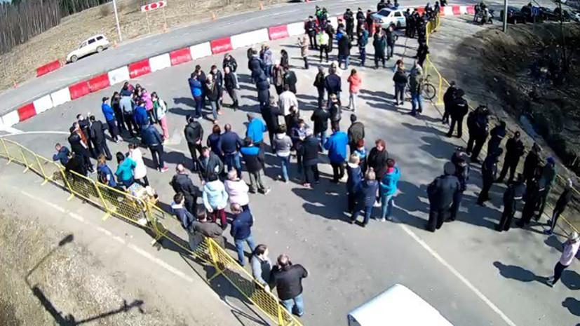 Местные жители заблокировали подъезд к полигону «Ядрово» в Волоколамске
