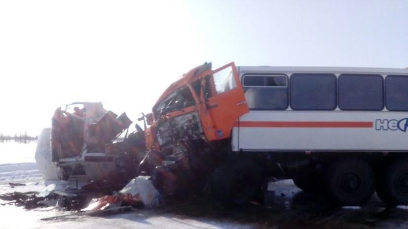В ГИБДД сообщили о 16 пострадавших в ДТП с автобусом на Ямале