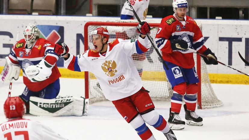 Олимпийская сборная России по хоккею победила Норвегию во втором матче Еврочелленджа