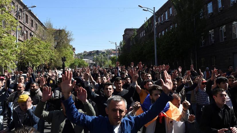 Минздрав Армении: впроцессе  беспорядков вЕреване пострадали 46 человек