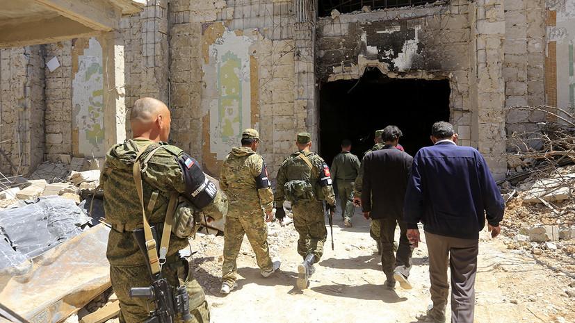 ЦПВС и военная полиция России изъяли со складов боевиков в Сирии 1,5 тонны взрывчатки