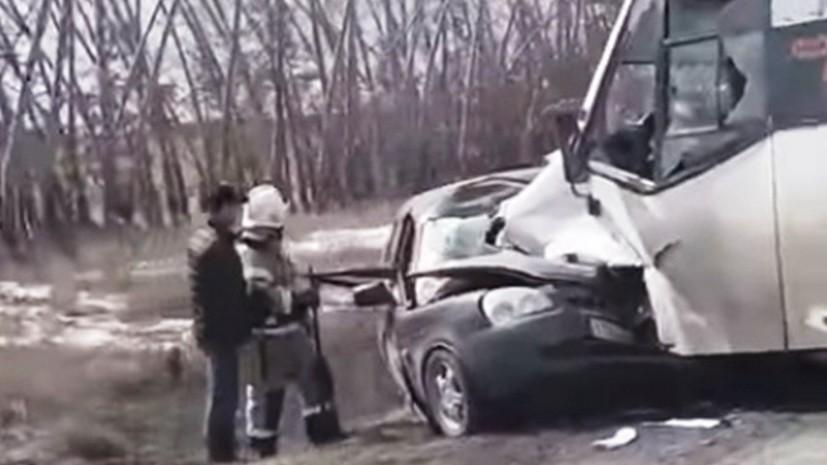 В Омской области в ДТП с участием маршрутки четыре человека погибли