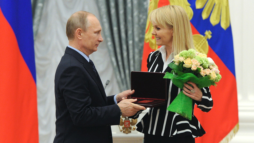 Путин поздравил певицу Валерию с юбилеем