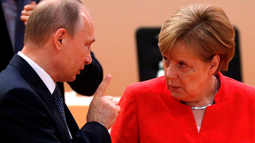 Путин в разговоре с Меркель назвал удары Запада по Сирии актом агрессии
