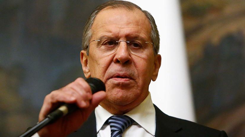 Лавров заявил, что удар США и союзников по Сирии совершён под надуманным предлогом