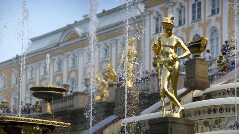 Первые фонтаны запустят в Петербурге 19 апреля