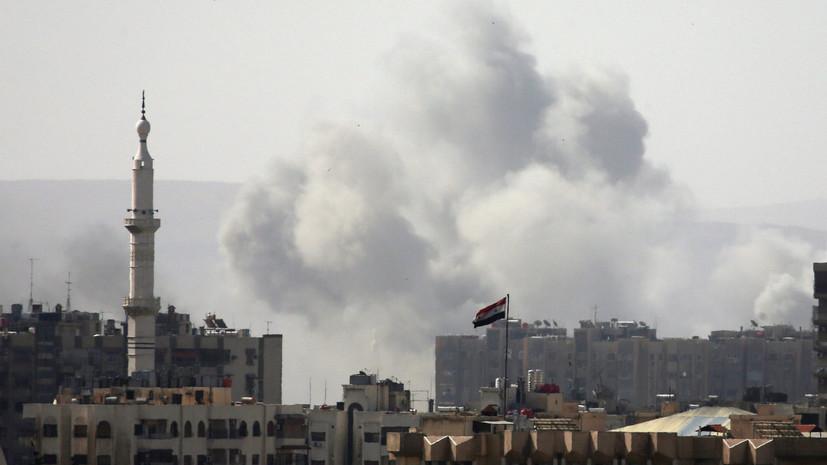 СМИ: ВВС Сирии наносят удары по позициям террористов к югу от Дамаска