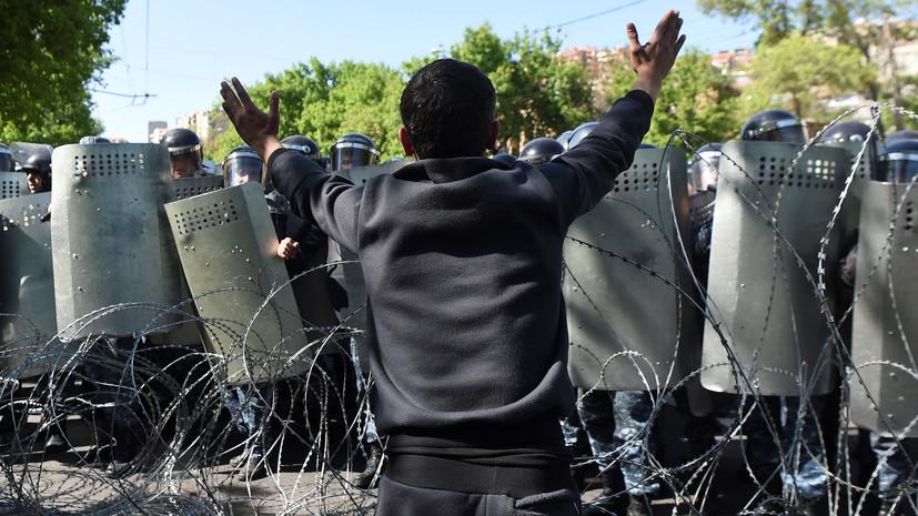Число задержанных участников акции в Ереване превысило 180