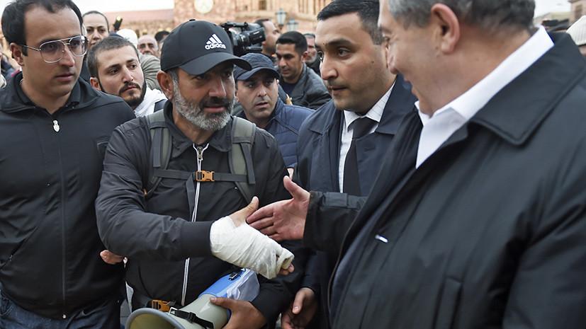 В Ереване полиция задержала лидера оппозиции Пашиняна