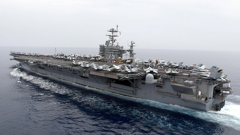 Бросили якорь: авианосец «Гарри Трумэн» может остаться на боевом дежурстве в Средиземном море