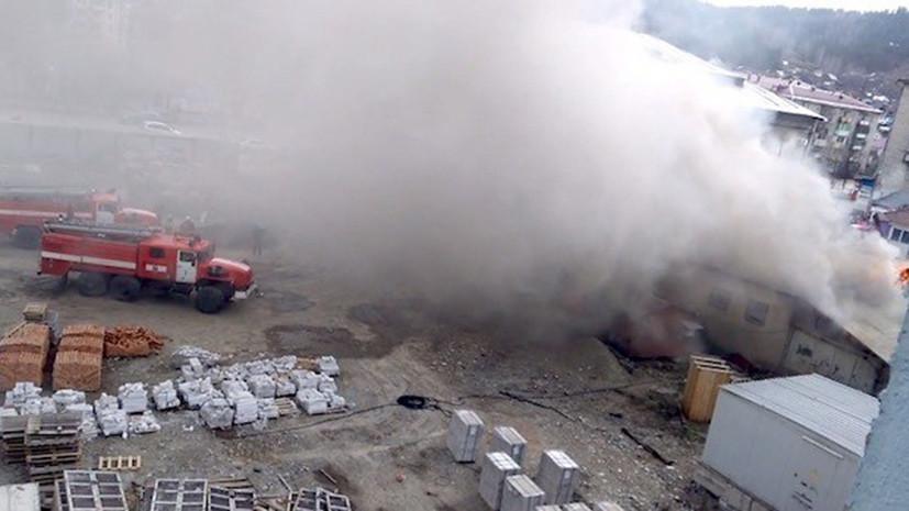 Из алтайского ТЦ эвакуировали посетителей из-за пожара