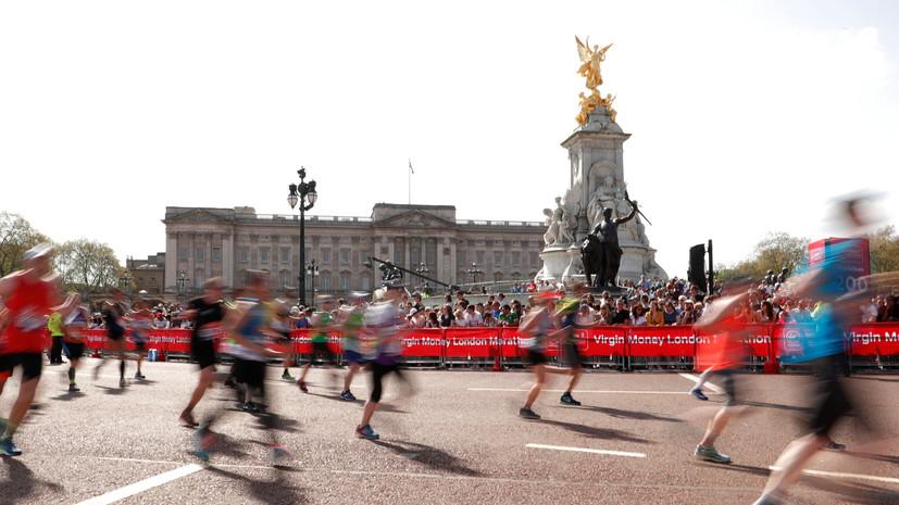 Вовремя забега английского марафона скончался один спортсмен