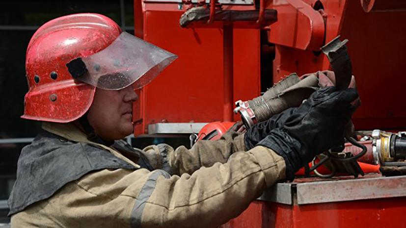 В Красноярском крае ликвидирован пожар на лесоперерабатывающем комбинате