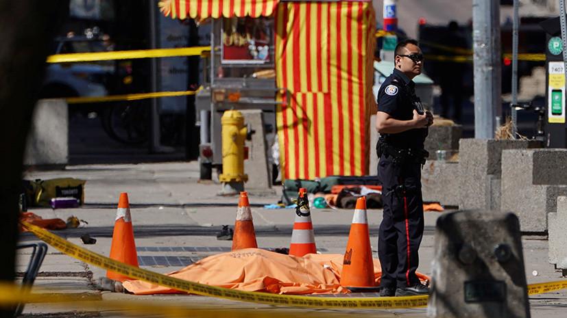 Очевидцы рассказали о наезде микроавтобуса на пешеходов в Торонто